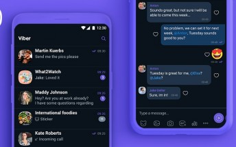 Viber gets dark mode on Android