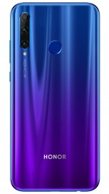 Honor 20i in Gradient Blue, Gradient Red, and Midnight Black