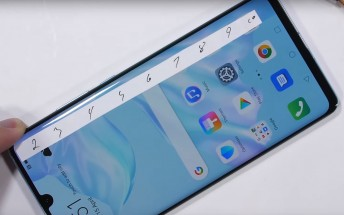 Huawei P30 Pro survives a torture test with a few scratches
