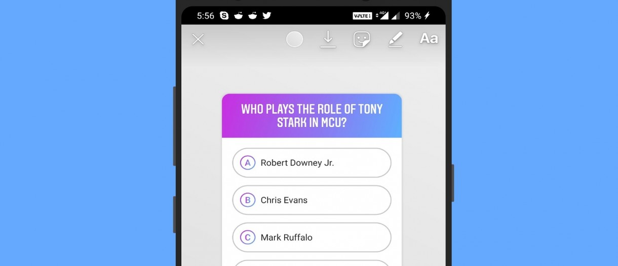 You can now ask multiple-choice questions in Instagram