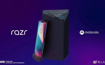 Motorola Razr V4 appears in press renders along with all the accessories