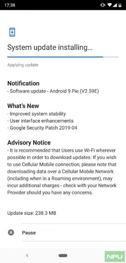 Nokia 8.2 system update, source: NPU