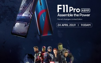 Marvel Edition Oppo F11 Pro coming on April 24