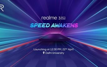 Realme 3 Pro coming on April 22
