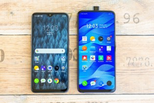 Realme X next to the Realme 3 Pro