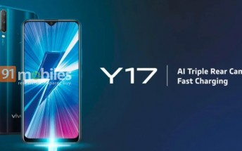 vivo Y17 surfaces with 20MP selfie camera and 5,000 mAh battery
