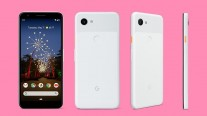 Google Pixel 3a in White, Purple, and Black colors