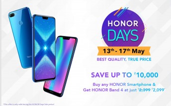 Honor launches Honor Days sale via Amazon India