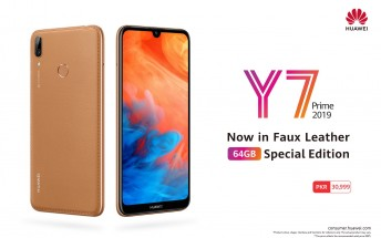 Huawei Y7 Prime (2019) faux leather limited edition launched