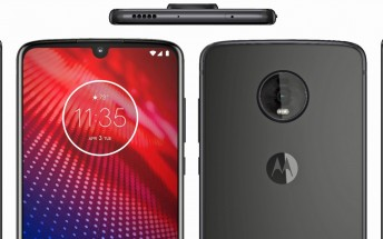 Leaked render shows off the Moto Z4 from multiple angles