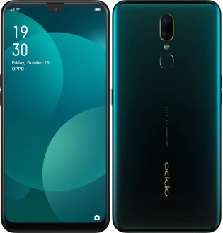 Oppo F11 in Marble Green