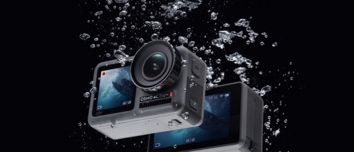 DJI Osmo Action is a 4K action camera with dual displays