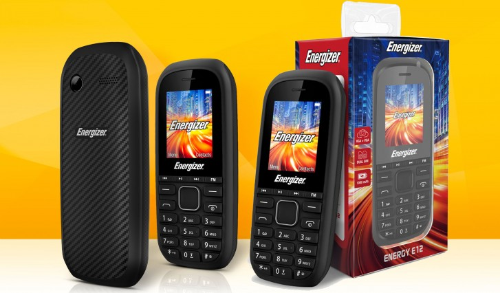Energizer E12 is a €12 dual-SIM phone with a microSD slot and media buttons