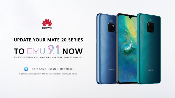 All premium Huawei Mate 20 phones can now be updated to EMUI 9.1
