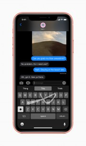 Swipe keyboard, Sign in with Apple