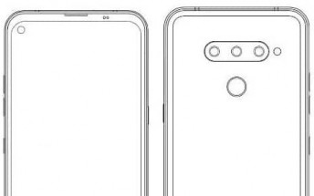 LG granted a patent for a phone with a punch hole front camera