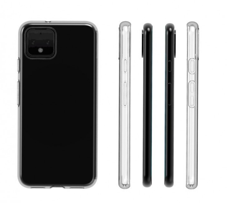 Here's the Google Pixel 4 in a transparent case