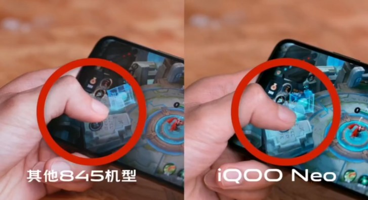 The virtual joystick is following your finger with zero lag
