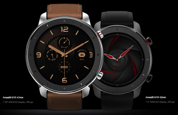 Amazfit GTR unveiled in 42mm and 47mm versions, has up to 34 days battery life