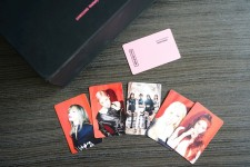Photo cards with the Blankpink band members