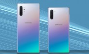 Dummies show the size difference between the Samsung Galaxy Note10 and Note10+