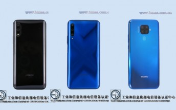 Honor 9X and 9X Pro pass by TENAA alongside Huawei Mate 30 Lite