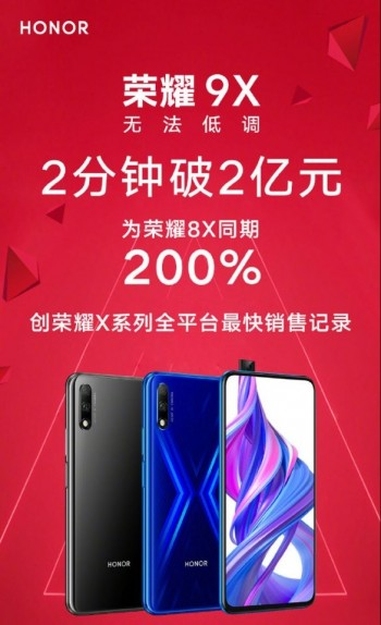 Honor 9X first flash sale pushes 100,000 units in 2 minutes