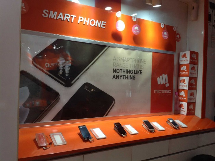 An offline store of Micromax in Delhi
