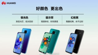 Huawei nova 5i Pro color and storage options
