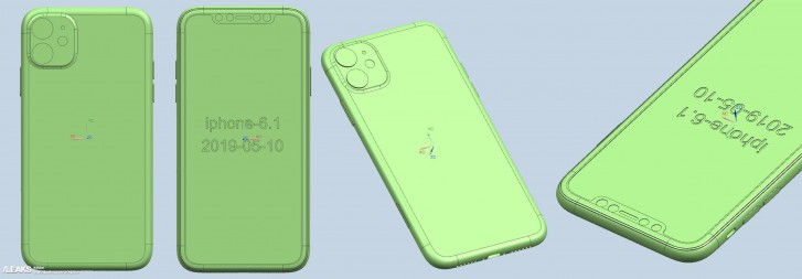 2019 iPhone family CAD renders surface