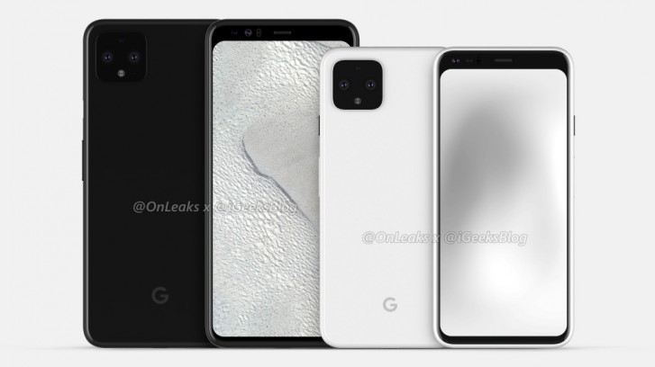 Google PIxel 4 pictured in new renders, screen protectors confirm the design