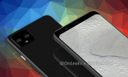 Google Pixel 4 XL renders show a classic top bezel, no notch or punch hole