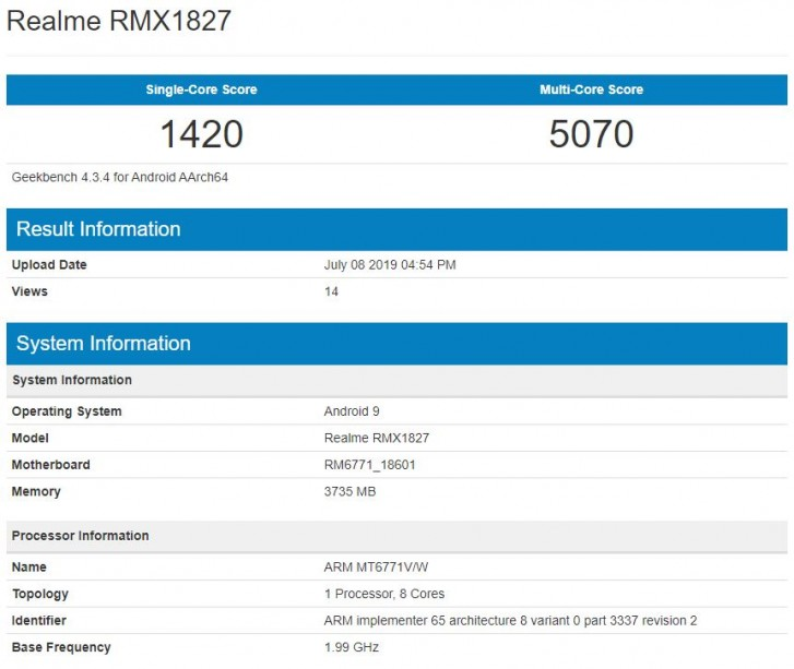 The Realme 3i will pair a MediaTek Helio P60 to 4GB of RAM