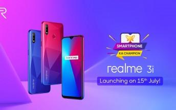 Realme 3i arriving on July 15, specs and design revealed
