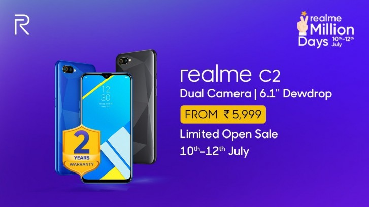 Realme C2 celebrates 1 million sold units with online deals for new customers