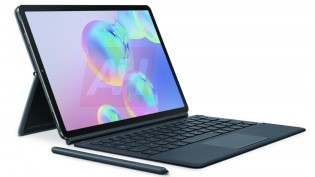 Samsung Galaxy Tab S6 with its keyboard accessory which will be sold separately