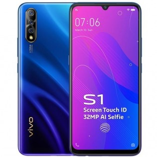 vivo S1 in Cosmic Green and Skyline Blue colors