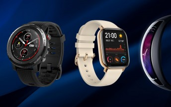 Huami unveils square Amazfit GTS, new round watch, teases smart band