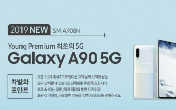 Samsung Galaxy A90 5G leaks in official renders