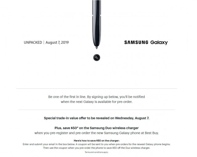 Best Buy Galaxy Note10 reservation