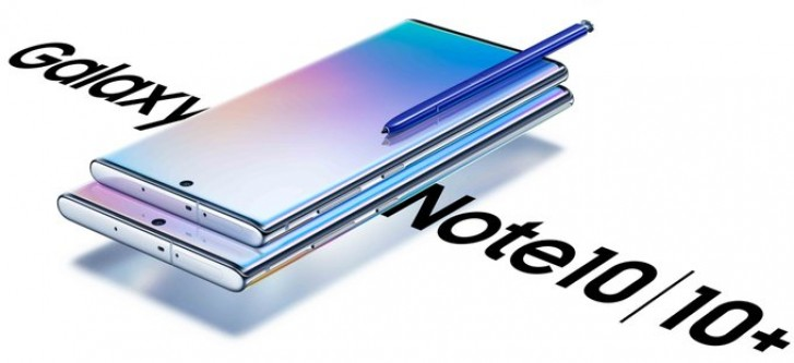 Leaked Galaxy Note10 images compare the size to Note10+, show off new color