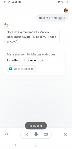 Google Assistant can now read and reply to messages on some third