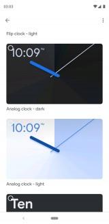 Homescreen options
