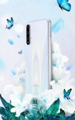 Honor 20S in White, Black, and Blue