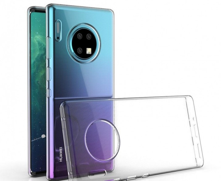 Alleged Mate 30 Pro in a transparent case