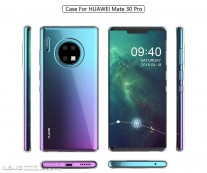Rumored renders of Huawei Mate 30 Pro