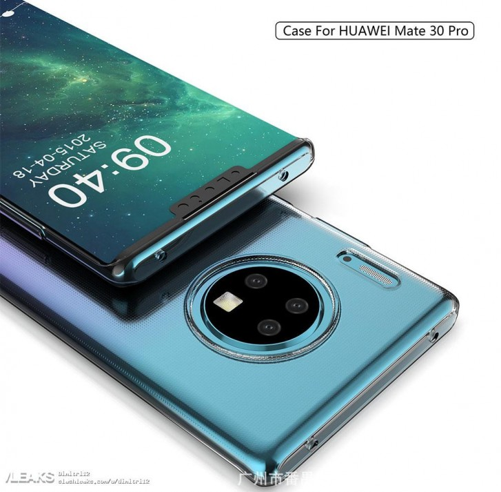 Case maker depicts the Huawei Mate 30 Pro with circular camera module