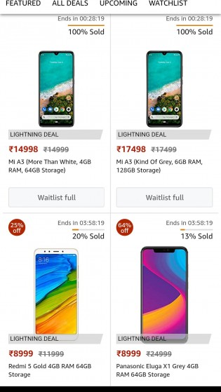 Mi A3 pricing and variants