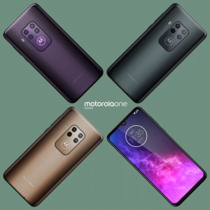Motorola One Zoom in three colors