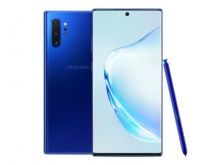 Aura Blue Samsung Galaxy Note10+ is headed to Europe